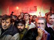 scatto 2008 dell'olandese Visser: proteste Belgrado dopo dichiarazione d'indipendenza Kosovo