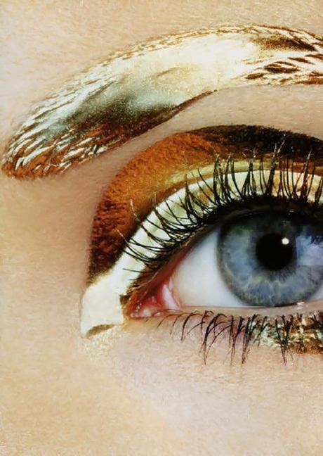 Vogue Nippon, January 2007 - 'Bold Gold'Lisa Cant by Miles Aldridge