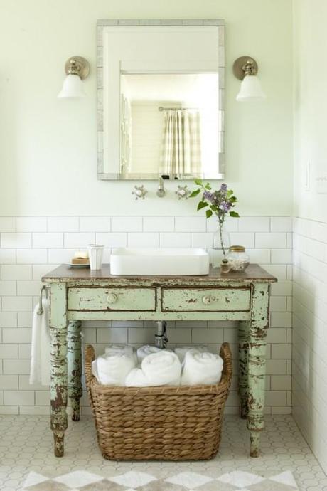 Idee eco-shabby per il bagno - Paperblog