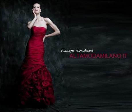 Abiti sposa rossi ALTAMODAMILANO.IT corso venezia 29 milano TEL ...