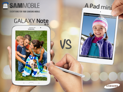 Samsung Galaxy Note 8.0 vs iPad Mini!