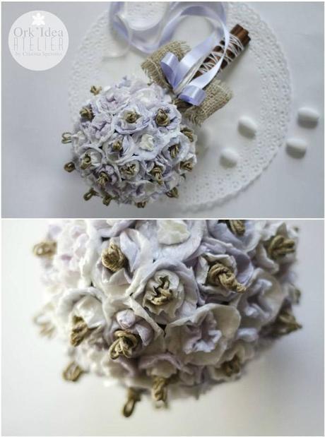 Tutorial Bouquet Sposa.Tutorial Come Fare Un Bouquet Da Sposa Con Carta Riciclata
