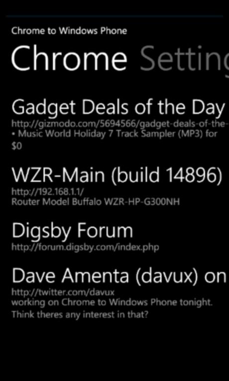 screenshot 11 19 2010 17.9.10.990 Finalmente disponibile Chrome to Windows Phone 7