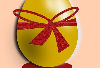 Uova dorate con inkscape paperblog - Foglio colore coniglietto pasquale ...
