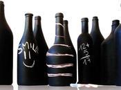 Complementi d'arredo interattivi: bottiglie tavoli lavagna design
