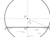 Calcolare volume liquido posto all'interno serbatoio orizzontale