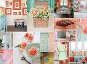 Colors ispiration: peach aqua