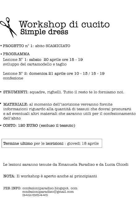 WORKSHOP SIMPLE DRESS abito scamiciato