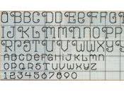 Schema punto croce: Alfabeto numeri scritto
