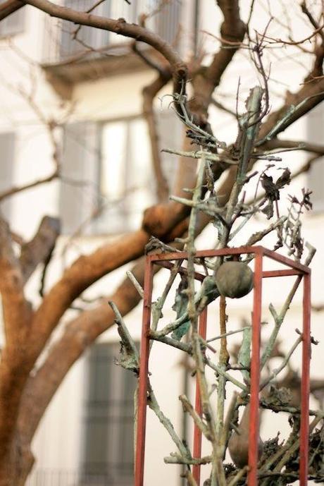 ALIK CAVALIERE, ALIK IN WONDERLAND - Fuorisalone 2013 Salone del Mobile MILANO - Alik Cavaliere, Grande Pianta. Dafne 1991, particolare Alik Cavaliere,albero