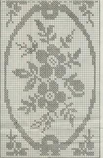 Schemi per il filet: Coperta formata da sei strisce e un bellissimo ...