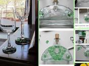 Scaramakai Mosaic: calici verde bottiglia tutorial