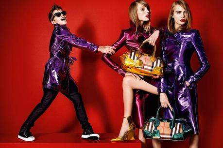Burberry Spring 2013 campaign photo Mario Testino model Cara Delevingne Women Management NYC