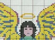 Schema punto croce: angelo insegna