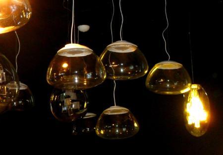 Fuorisalone 2013 - Aria, lampada e sospensione - Massimo Iosa Ghini alla Triennale di Milano, foto Elena Santoro