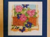 Schema punto croce: Finestre fiorite realizzare piccoli quadretti