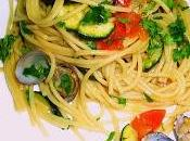 Spaghetti vongole zucchine pomodorini