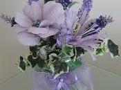 Composizione fiori finti carta crespa