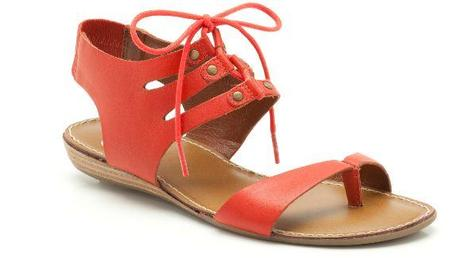 red sandals clarks