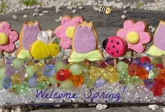 Cucina Chic Cake Design N. 17: biscotti decorati di primavera ...