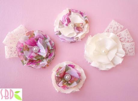 Fiori di stoffa shabby chic shabby chic fabric flowers for Fiori di stoffa shabby chic