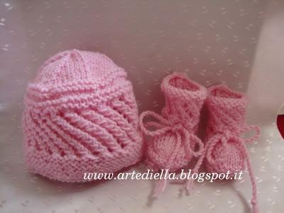 Cappellino e scarpette per neonato con spiegazioni - Paperblog a4b8a194a0b7