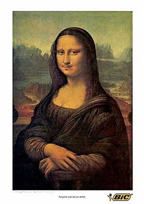 La Gioconda nelle Campagne Pubblicitarie - Paperblog Dadaism Mona Lisa