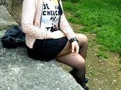 outfit primaverile collant neri Omero