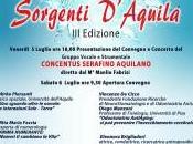 luglio terza edizione convegno Sorgenti d'Aquila