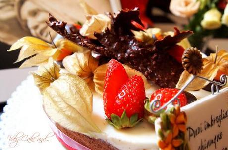 Torta fragole, bavarese al cioccolato e panna cotta gluten free