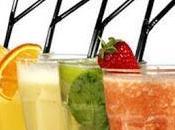 Bevande cocktail: Milk shake mirtilli; latte carote; cuor fragole; delizia alla papaia
