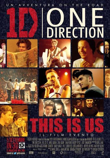 ONE DIRECTION poster ITA One Direction: This is Us   online il poster mosaico + Fan Follow Friday oggi alle 13 su @1DThisIsUs