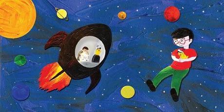 Favola per bambini di gianni rodari : il pulcino cosmico, illustrata