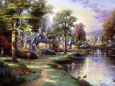 Al BAR del Regno Thomas-kinkade-il-pittore-dei-paesaggi-incant-L-86l0dg