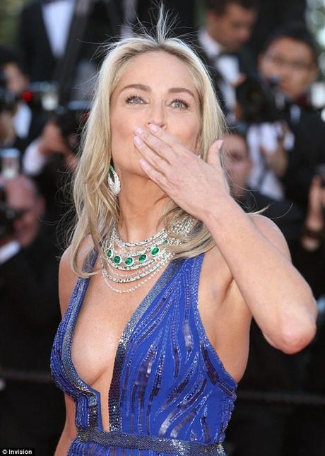 sharon stone cannes 2013