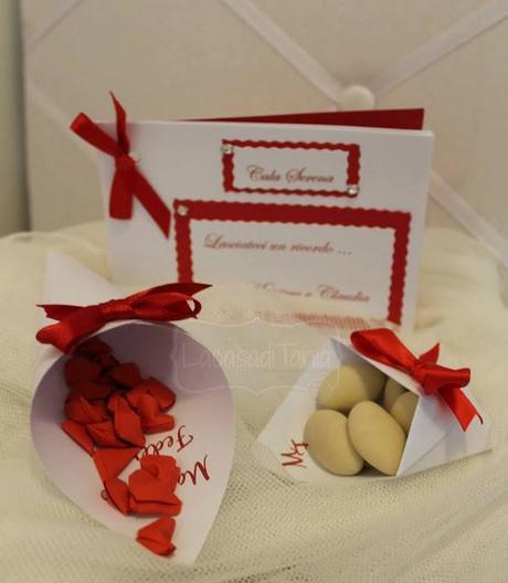 Matrimonio In Rosso Idee : Set matrimonio in rosso paper