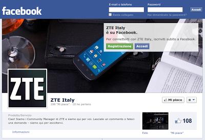 ZTE Italy è su Facebook - Comunicato Stampa
