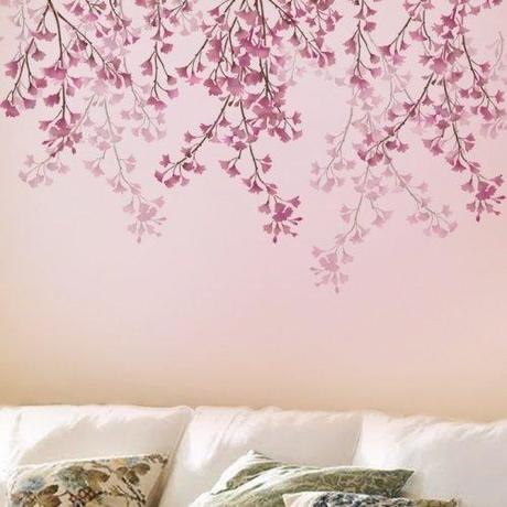 Decorare a primavera rinnoviamo le pareti parte 3 paperblog - Stencil albero da parete ...