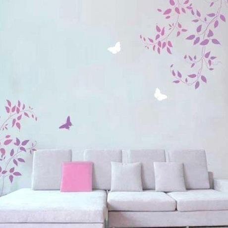 Decorare a primavera rinnoviamo le pareti parte 3 paperblog - Stencil per decorare pareti ...
