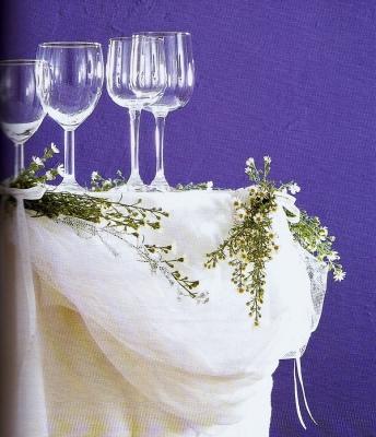 Festoni delicati per la tavola della festa paperblog - Addobbo tavola prima comunione ...