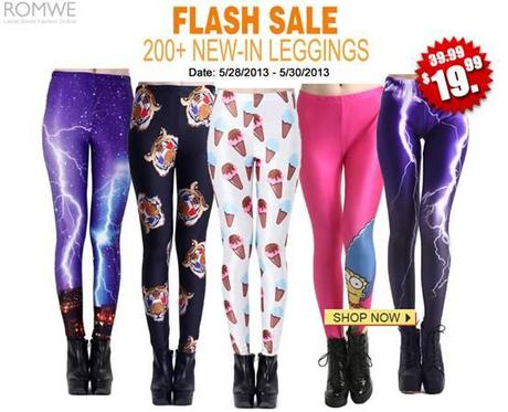 Romwe Leggings Flash Sale! $19.99 for any pair. 3 days only!