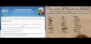 Il modulo per l'arruolamento nell'esercito della Libertà a sostegno di Berlusconi