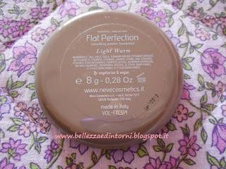 Recensione fondotinta compatto Flat Perfection (Neve Cosmetics)