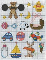 Schema punto croce piccoli ricami per bambini paperblog for Piccoli ricami punto croce per bambini