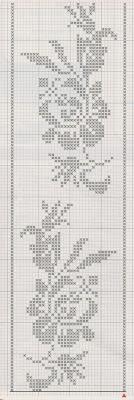 Schemi per il filet bordure per lenzuola paperblog for Bordi per lenzuola