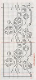 Schemi per il filet bordure per lenzuola paperblog for Schemi bordure uncinetto per lenzuola