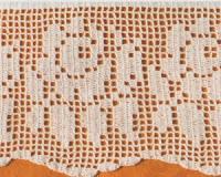 Schemi per il filet: Bordure per lenzuola - Paperblog