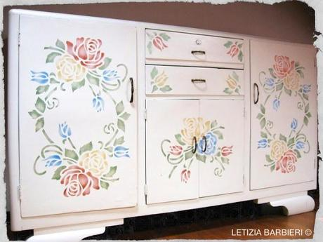 Il mobile della nonna si rinnova paperblog - Stencil adesivi per mobili ...