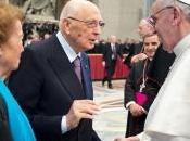Giorgio Napolitano incontra papa Francesco
