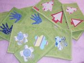 Asciugamani spugna applicazioni stoffa